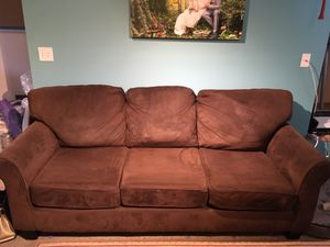 Brown Micro Fiber couch for Sale in SeaTac, WA