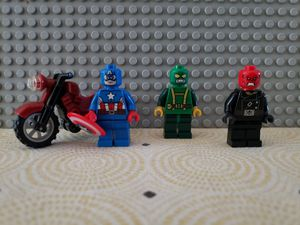 LEGO Marvel Minifigures: Captain America, Red Skull Hydra Henchman - From 76017 for Sale in Fullerton, CA