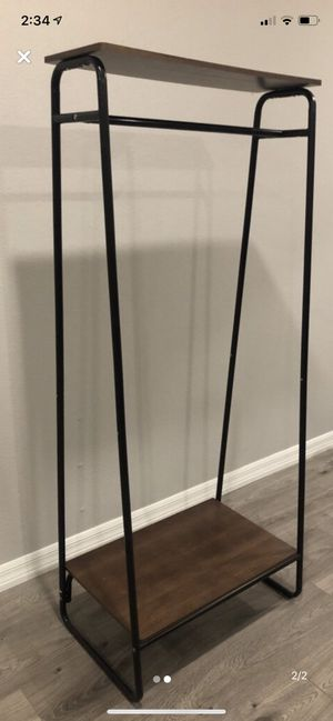 Small wardrobe rack with Shelf for Sale in Los Angeles, CA
