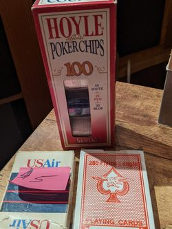 Poker Chips And Two Sets Cards for Sale in Sammamish,  WA