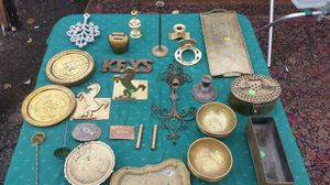 Brass and other metal lot for Sale in Grosse Pointe, MI