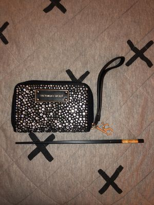 Victoria Secret rhinestone Cell/Wallet wristlet for Sale in Anaheim, CA