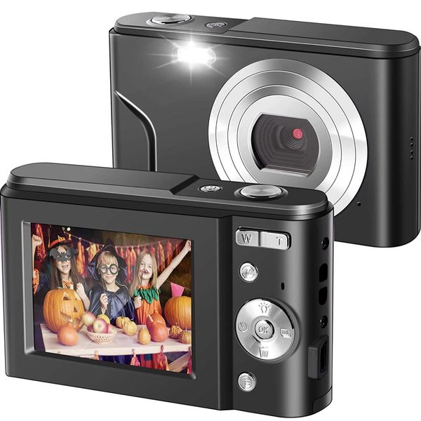 Ultra HD Digital Camera,1080P Mini Kid Camera Vlogging Camera Video Camera LCD Screen 16X Digital Zoom 36MP Rechargeable Point and Shoot Camera for Co