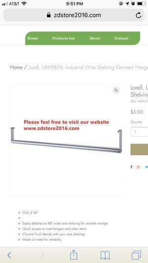 Lorell, LLR69876, Industrial Wire Shelving Garment Hanger Bar for Sale in Houston, TX