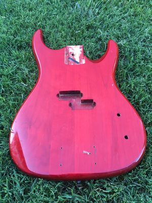 Vintage 4 String Bass Red Guitar Body Tonewood Parts for Sale in Dublin, CA