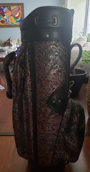 Vintage Burton Manufacturing Golf Bag leather and tapestry for Sale in UPPR MARLBORO, MD
