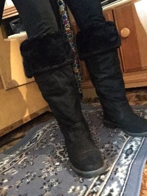 Aldo black suede boots size 6.5 a for Sale in Philadelphia, PA