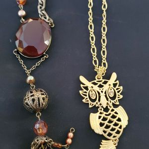 2 Ladies long chain Necklaces for Sale in Columbia, SC