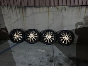 Special Custom 20 Inch 5x120 Bmw rims / wheels 20s Tire 245/35 20 front 275/35 20 rear 95% tire left All tires are the same $1,000 Will fit 3, 4, 5, for Sale in Queens, NY