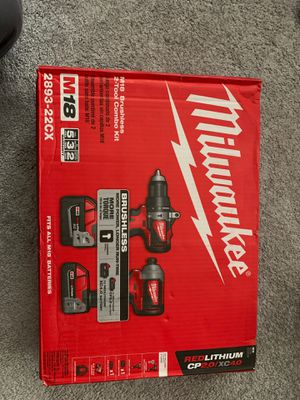 Milwaukee M18 2893-22CX 18-Volt 2-Tool 3-Speed Drill and Impact Driver Combo Kit price firm for Sale in Newcastle, WA