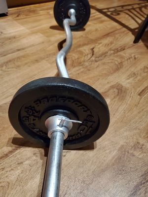 SOLID CURL BAR +20 LBS.. for Sale in Downers Grove, IL