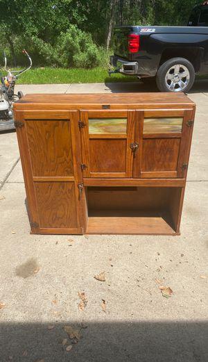 Antique Oak Boone Kitchen Cabinet Upper for Sale in Cedar Creek, TX