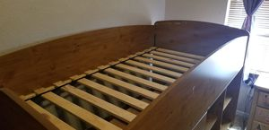 Brown Twin bed with storage for Sale in El Paso, TX