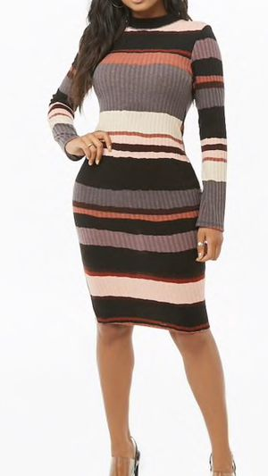 Multistripe Ribbed Knit Dress for Sale in West Palm Beach, FL