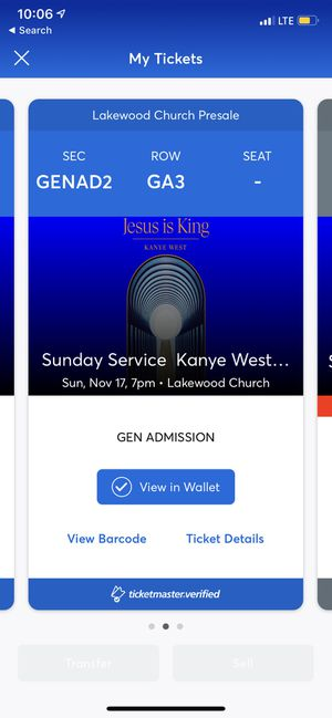 KANYE WEST EXPERIENCE @ 7PM 11/17 (2) tickets for Sale in Oklahoma City, OK