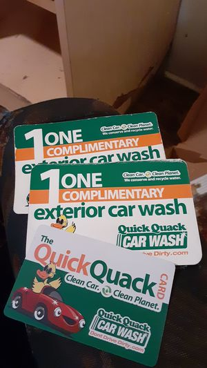 FREE WASH CARDS for Sale in West Sacramento, CA