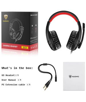 U3 3.5mm Gaming Headset for PC, PS4, Laptop, Xbox One, Mac, iPad, Nintendo Switch Games, Computer Game Gamer Over Ear Flexible Microphone Volume Cont for Sale in Rowland Heights, CA