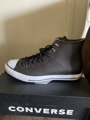 Leather Size 12 All Star Converse for Sale in Detroit, MI