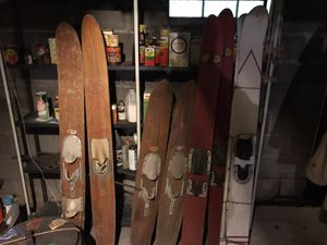 Vintage 1950's era wooden water skis for Sale in West Alton, MO