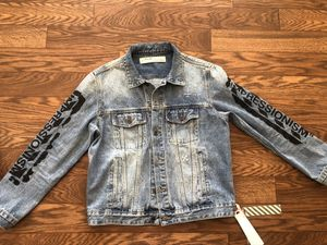 Off white jeans jacket for Sale in Roswell, GA
