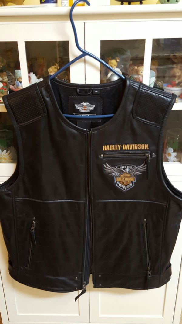HARLEY DAVIDSON Genuine Leather Vest,