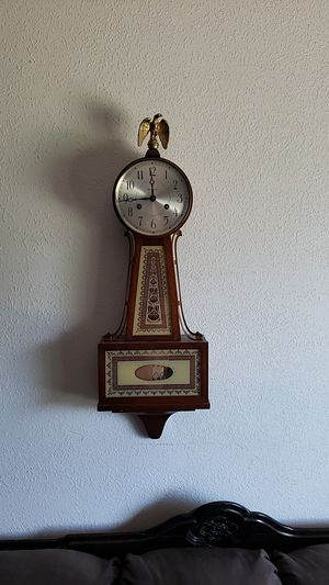 1950s seth Thomas banjo clock needs Spring repair for Sale in Phoenix, AZ