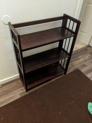 3 tier foldable wooden shelf for Sale in Seattle, WA