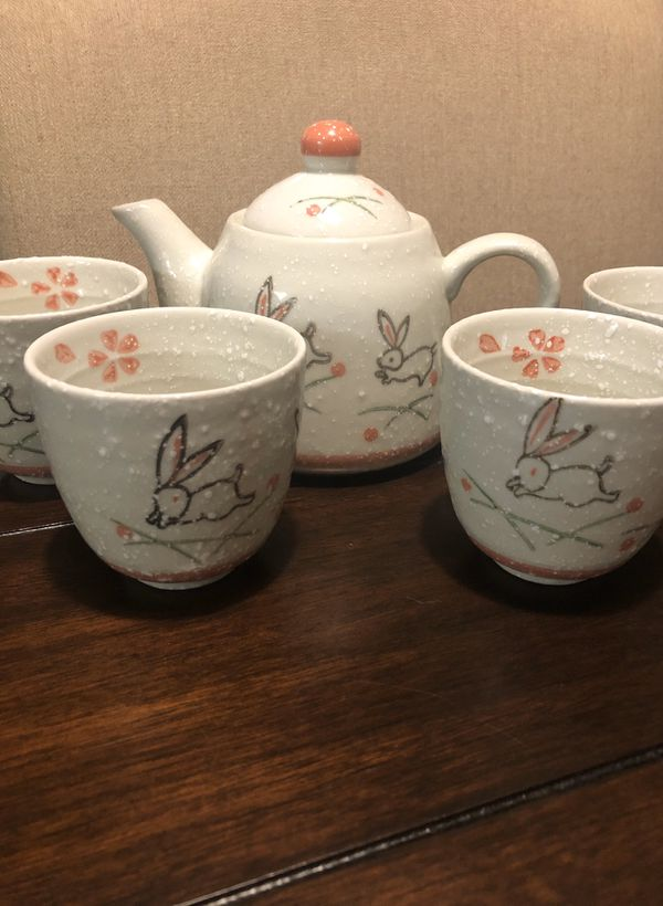 Vintage ceramic Bunny Tea Set