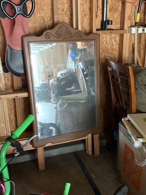 Wooden framed mirror for Sale in Rowland Heights, CA