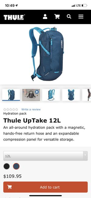 Thule uptake 12L hydration pack/backpack for Sale in Commerce, CA