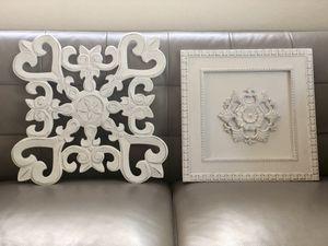 Wall wood art -white for Sale in Hialeah Gardens, FL