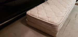 Twin bed, box springs, rails for Sale in Irving, TX