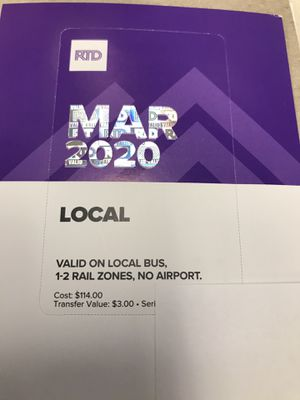 March Bus pass for Sale in Aurora, CO