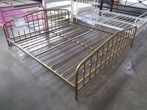King bed frame $75 sale Tuesday 😎 2759 Irving Blvd Dallas 75207😎 for Sale in Dallas, TX