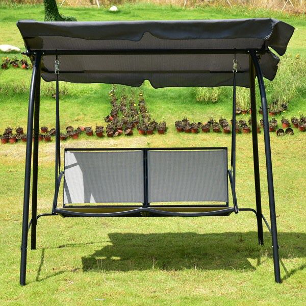 New in box 500 lbs capacity porch swing bench chair