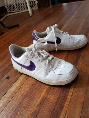 Nike Air Force One white and purple for Sale in Wichita, KS