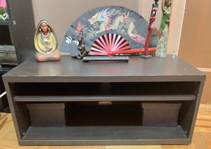 Black wood TV stand shelf for Sale in New York, NY