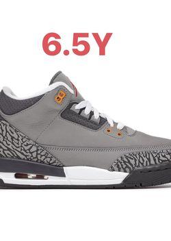 Jordan 3 Cool grey Gs Size 6.5Y for Sale in Vallejo,  CA
