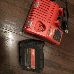New Milwaukee Charger And Battery 18 volts And Battery 5.0 for Sale in Washington, DC