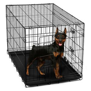 """Paws & Pals 24"""" Heavy Duty Foldable Double Door Dog Crate with Divider and Removable ABS Plastic Tray, 24"""" x 17"""" x 19"""" for Sale in Los Angeles, CA"""