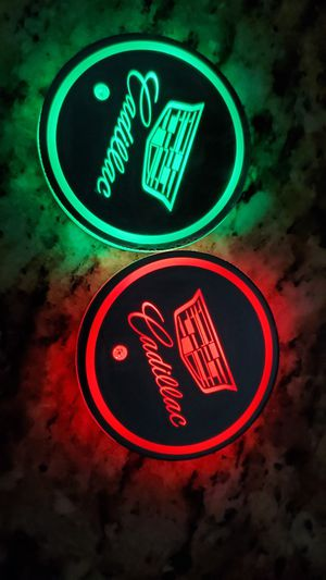 Cadillac led Light Puck cup holder mat for Sale in Swanton, OH