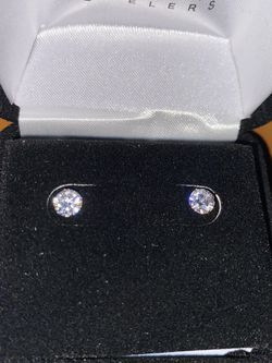 Lab-Created Diamond Solitaire Earrings 1/2 ct tw 14K Yellow Gold for Sale in Pensacola,  FL