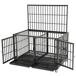 Heavy Duty Dog Pet Cage Kennel Heavy Duty Thick Bar Size 43 Upper With Divider Size for Sale in Montclair, CA