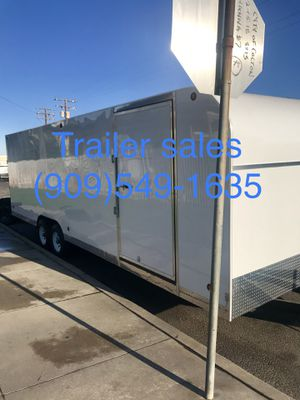 Brand new ** in stock ** 8.5x28x7 enclosed trailer for Sale in Rancho Cucamonga, CA