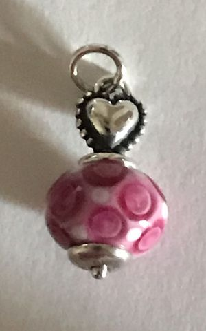 Brand New James Avery HEART Pink Finial Glass Bead Charm for Sale in San Antonio, TX