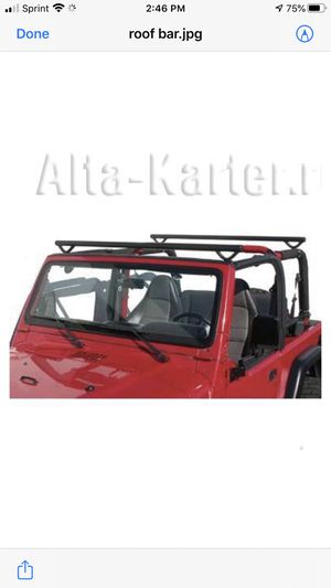 2004 Jeep Wrangler TJ - Roof Round Bars for Surf Board for Sale in Laguna Beach, CA