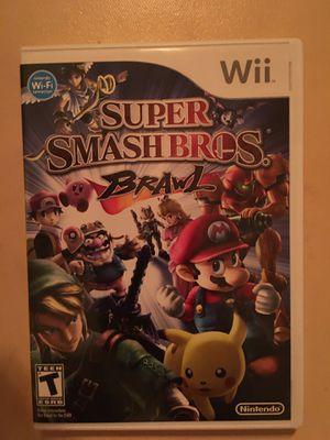 Nintendo Wii super smash bro's brawl for Sale in Visalia, CA