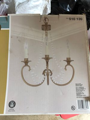 Champane gold chandelier for Sale in Chantilly, VA