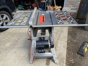 """RIDGID 10"""" Table Saw """"cast iron"""" table top for Sale in Hillsboro, OR"""
