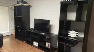 3 piece black real wood bookshelves for Sale in Phoenix, AZ